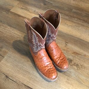 Lucchese Full-Quill Ostrich boots.